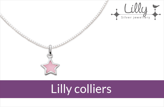Lilly - zilveren kinder colliers