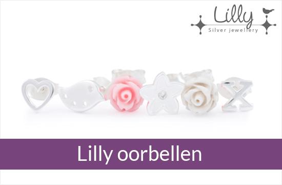 Lilly - zilveren kinder oorbellen