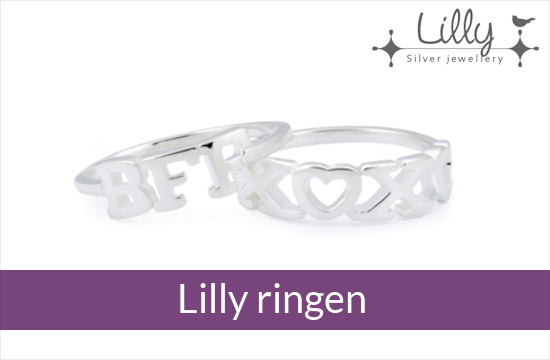 Lilly - zilveren kinder ringen